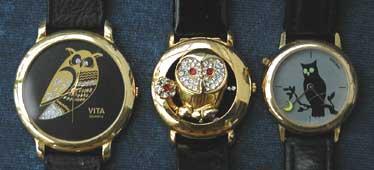 Eulen Uhren