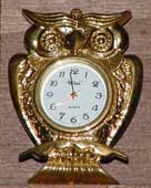 Miniature clock for type case